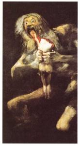 Cronos devora a sus hijos, Goya